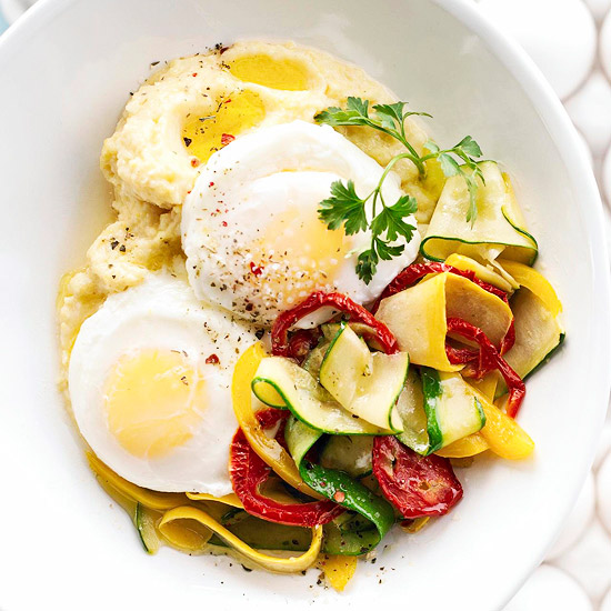 polenta and eggs