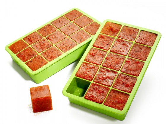 Freeze sauce in left over icecube trays to use later