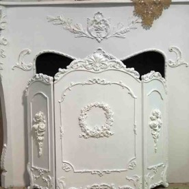 Fireplace Screen Hand Painted Shabby Chic