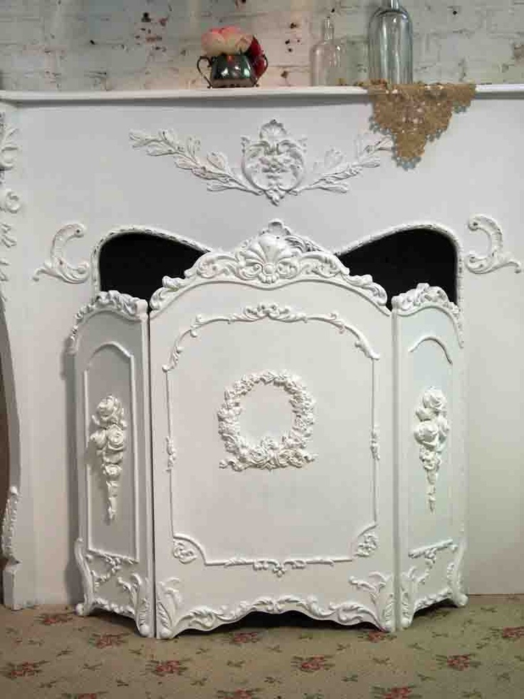 Fireplace Screen - Hand Painted - Shabby Chic
