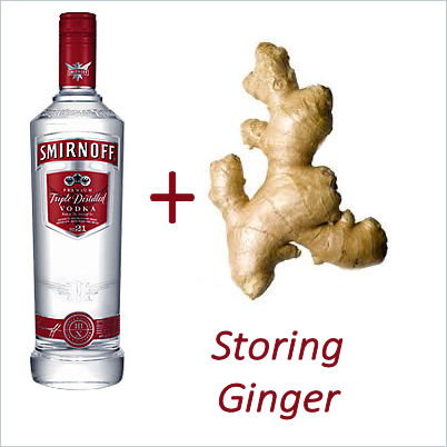 ginger storage