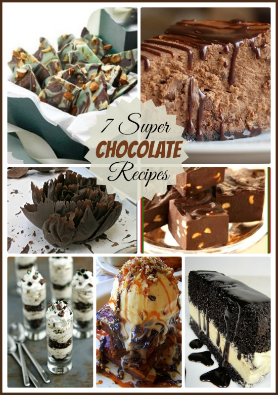 7 super chocolate recipes. One for each day of the week.