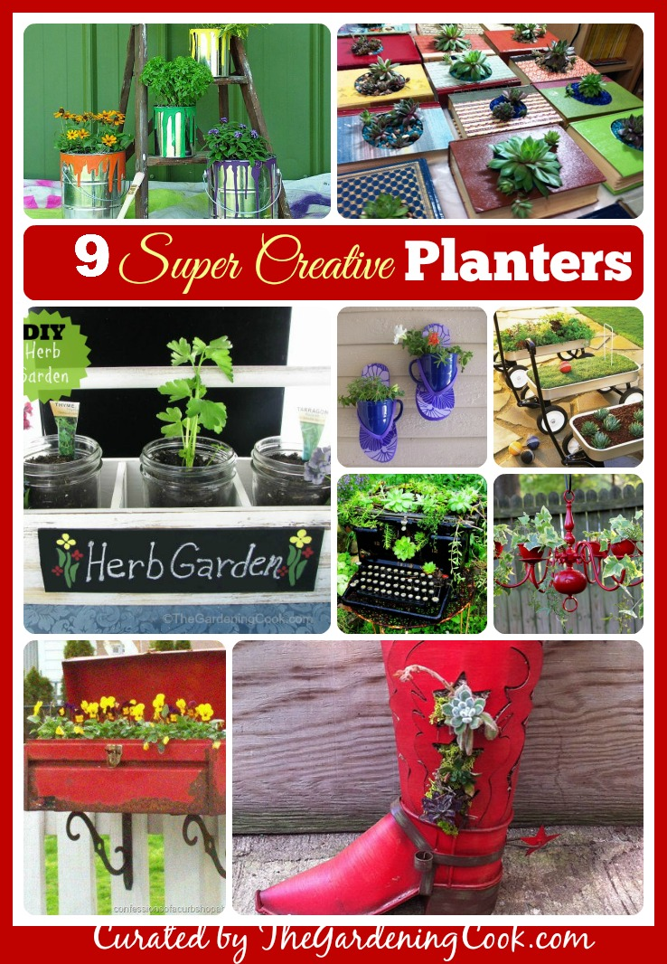 Common household items can make super easy and very creative planters