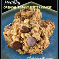 Looking for a healthier peanut butter oatmeal cookie? Try this one.