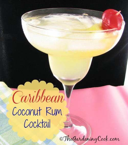 Caribbean coconut rum cocktail