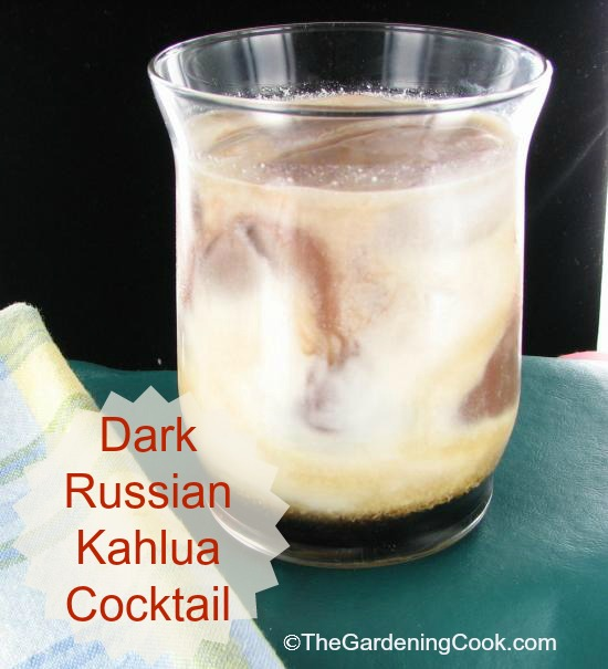 Dark Russina Kahlua cocktail