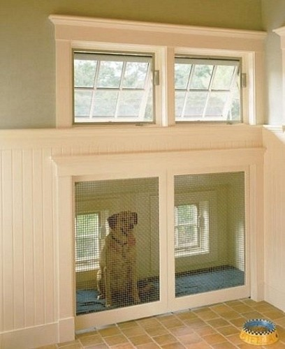 built iin dog pen