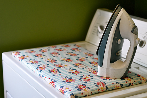 DIY dryer top ironing board