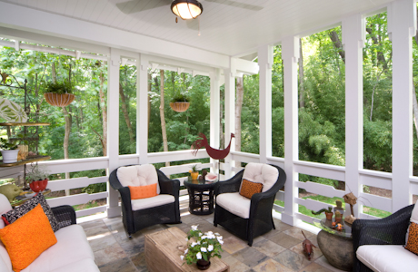 Porch and Patio Combined brings the nature into the area