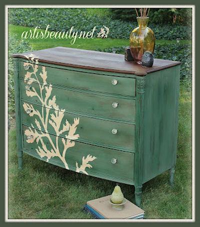 Hand painted dresser tutorial