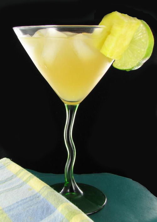 Hotely Riley Rum cocktail combines vodka, amaretto and coconut rum with lime juice and pineapple juice. Vacation time!