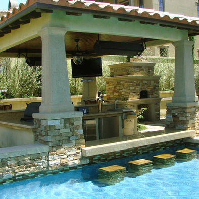 Swim up patio gives a resort appeal