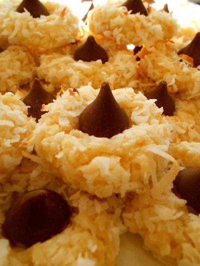 Chocolate Macaroon Candy Kiss Cookie