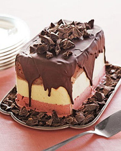 Chocolate covered frozen ice cream dessert