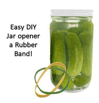 Rubber Bands make a great jar opener