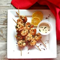 Tandoori shrimp kebabs