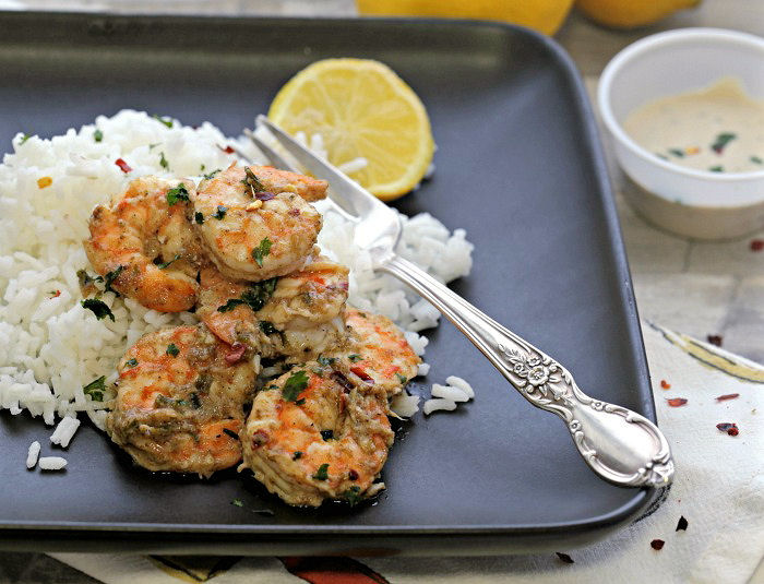 Tasting this spicy shrimp recipe