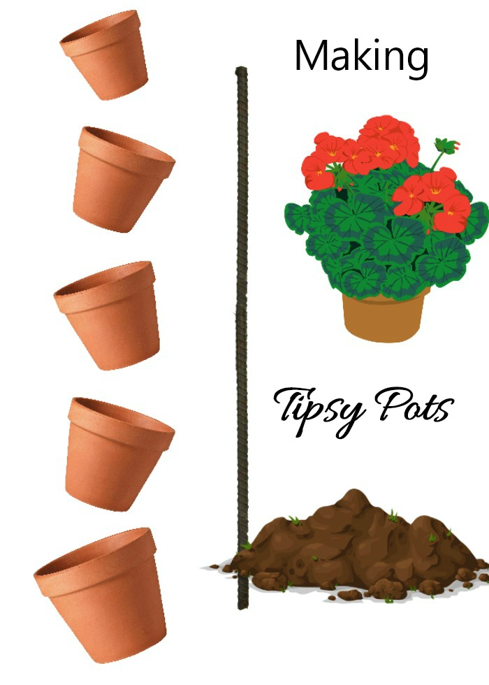 Making tipsy planters