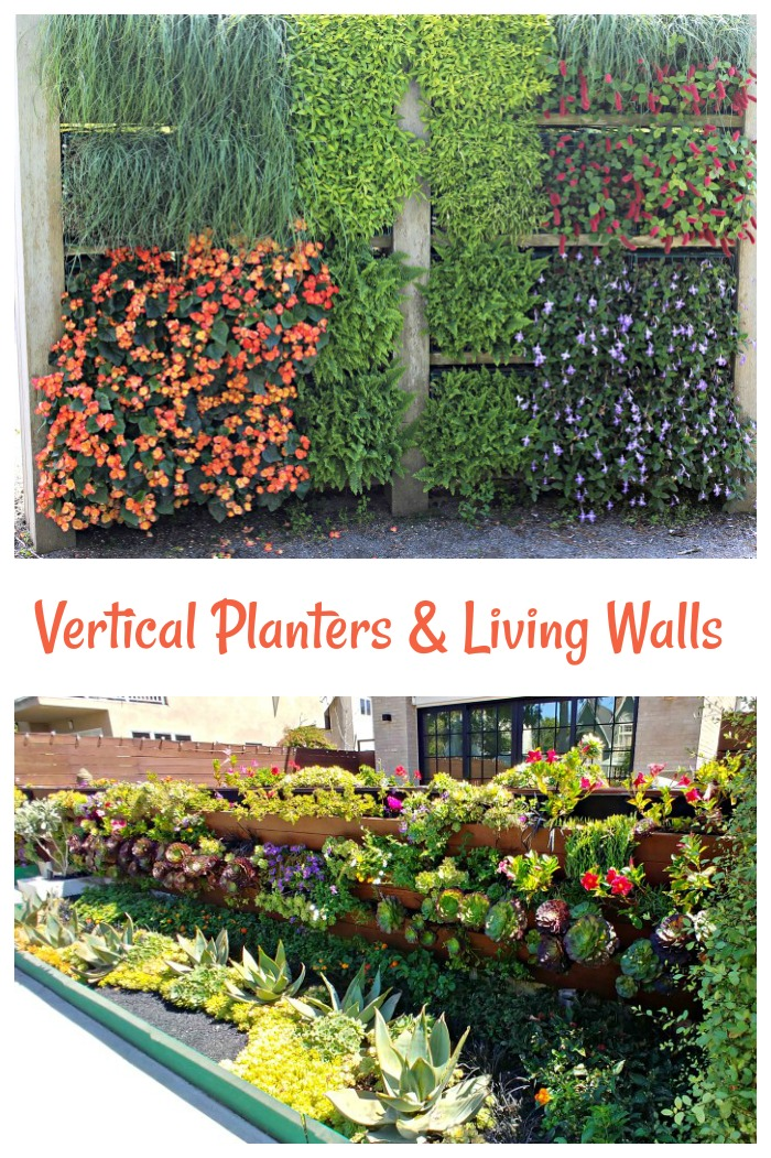Ideas for vertical planters and living walls
