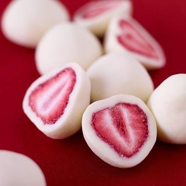 Yoghurt strawberries