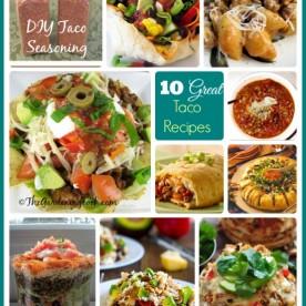 Round up of 10 Fabulous Taco recipes