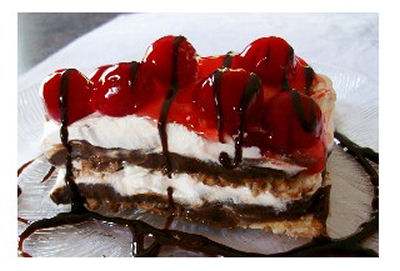 Black Forest Cherry Pastry Dessert