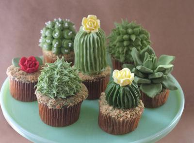 Cacti Cupcakes DIY