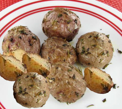 Roasted Red Baby Potatoes with Fresh Herbs