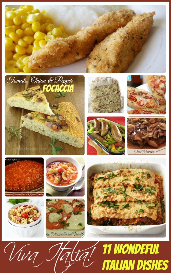Viva Italia! Round up of 11 delcious Italian recipes