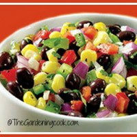 Black bean salsa with corn and onion