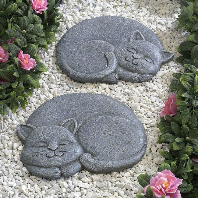 Cat garden stones from Bits and Pieces