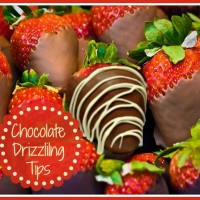 tips for perfectly drizzled chocolate
