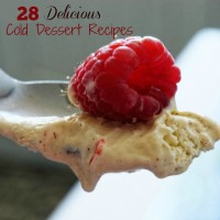The temps are rising. Time for some delcious cold desserts. This round up features 28 different cold and frozen desserts. The kids will love them!