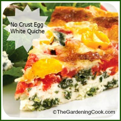 Crustless egg white quiche