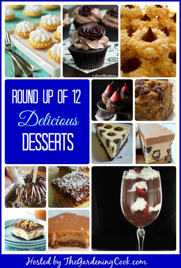 Round up of 12 delicious dessert recipes