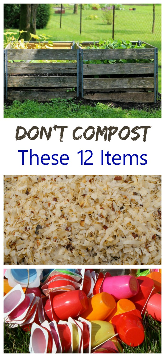 Not everything can be added to a compost pile. See my list of 12 common household items that you don't compost.