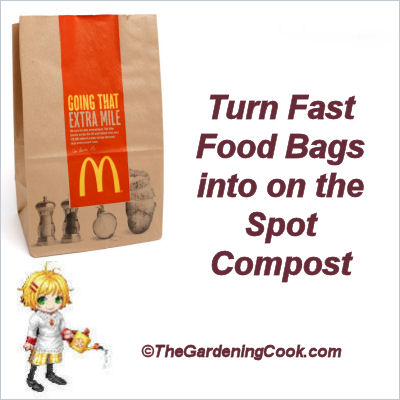 On the spot composting with brown lunch bags.