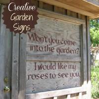Creative garden signs