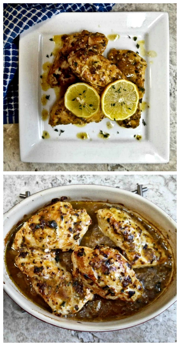 Lemon Garlic Chicken with a mustard sauce