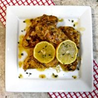Lemon chicken with garlic and mustard