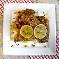 Lemon chicken with garlic and mustard