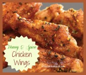 Honey and spice chicken wings