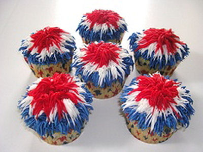 Firework-Frosted Cupcakes