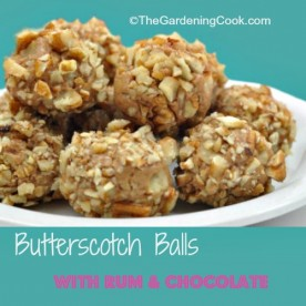 Butterscotch balls with Rum and Chocolate