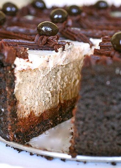 Capuchino fudge cheesecake