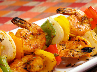Cajun Grilled Shrimp Kebabs