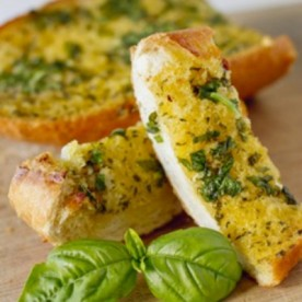 Basil and Parsley Garlic Bread