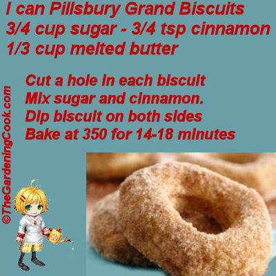 Easy biscuit doughnuts