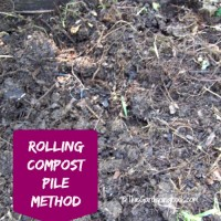 Composting is super easy with a rolling compost pile
