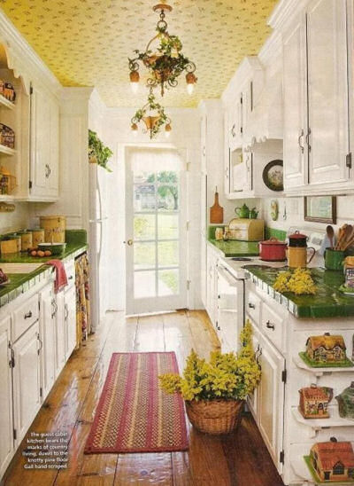 Country Kitchen with lots of color.